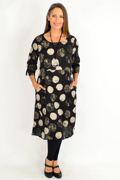 Black Laura Spot Tunic