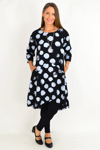 Black Ruby Spot Tunic Dress