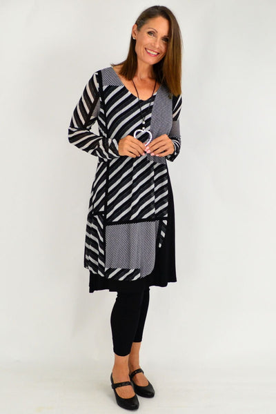 Black White Alisha Tunic