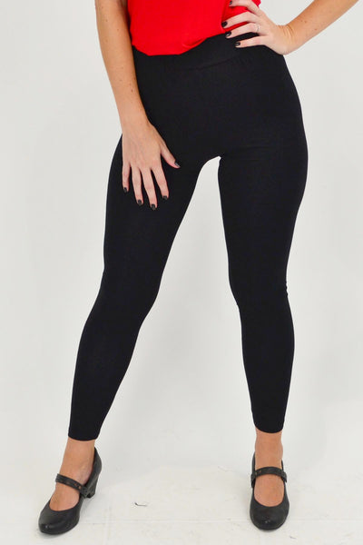 Super Soft Bamboo Full Length Black Leggings