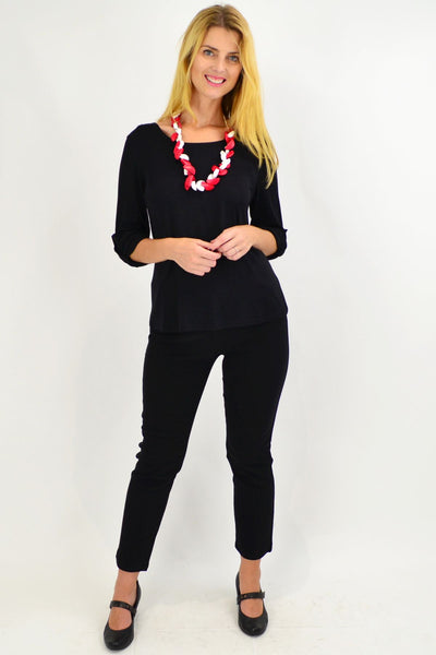 Super Soft Bamboo Full Length Black Leggings - I Love Tunics