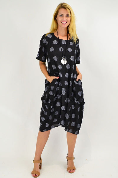 Black Dots Bubble Tunic Dress