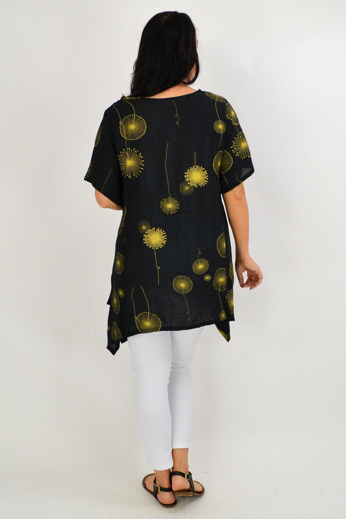 Black Dandelion Wish Tunic Top - I Love Tunics