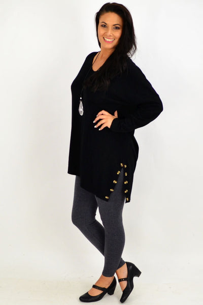 Black My Go To Knit Tunic Jumper | I Love Tunics | Tunic Tops | Tunic | Tunic Dresses  | womens clothing online