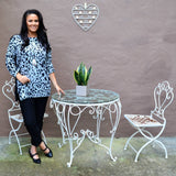 Grey Animal Print Winter Tunic Top