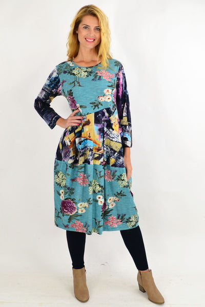 Floral Da Vinci Bounce Tunic Dress