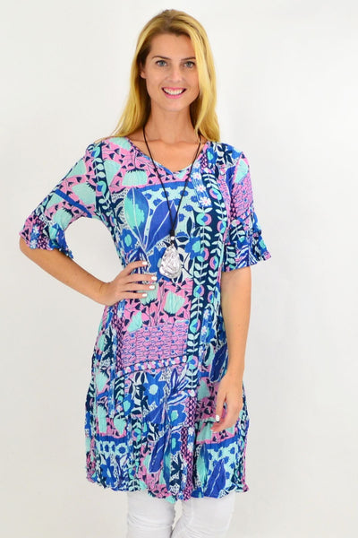 Hawaiian Ruffle Tunic Dress | I Love Tunics | Tunic Tops | Tunic | Tunic Dresses  | womens clothing online