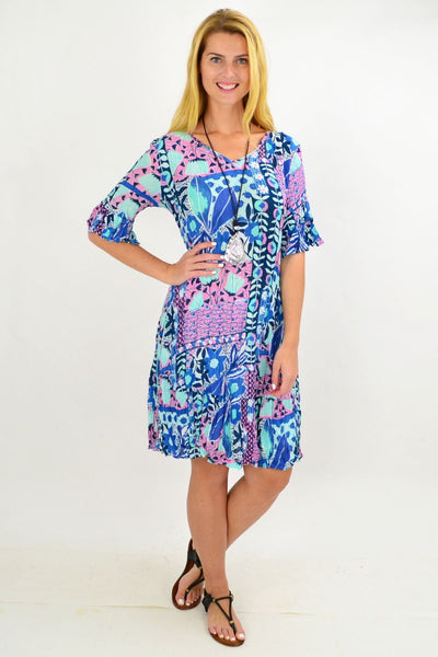 Hawaiian Ruffle Tunic Dress