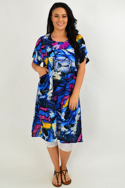 Ocean Swirl Tunic Dress