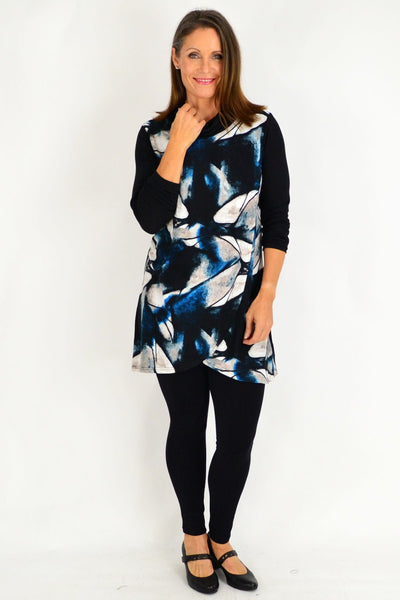 Blue Jasmine Abstract Tunic Top