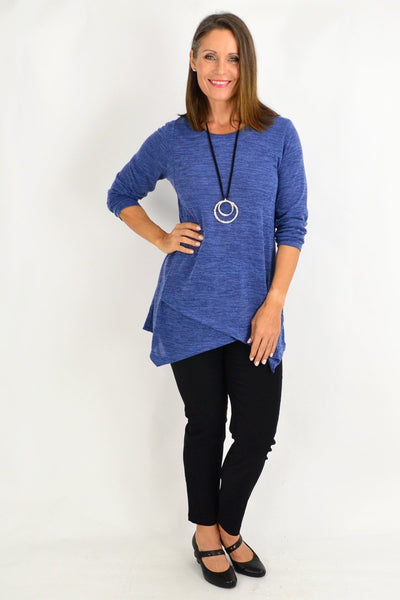 Bennie Blue Tunic Top