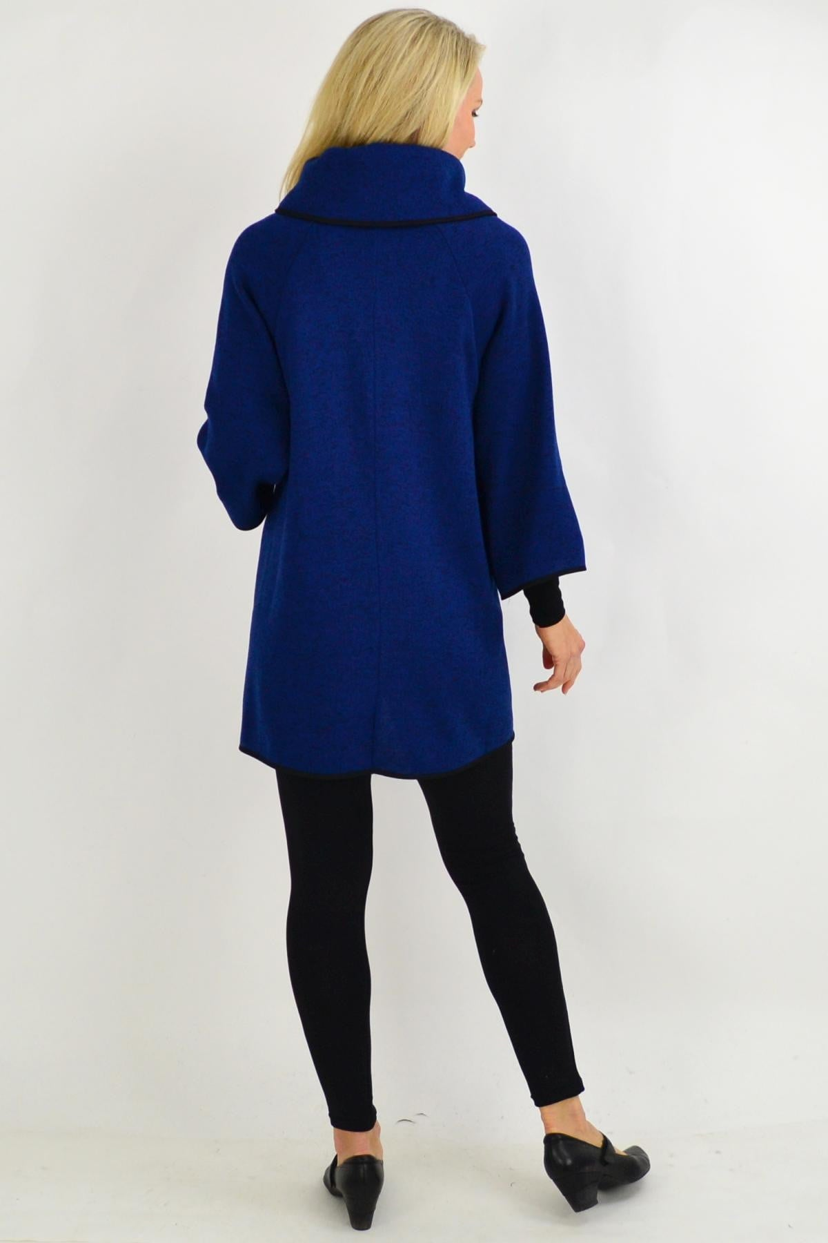 Black Trim Navy Collar Cape | I Love Tunics | Tunic Tops | Tunic | Tunic Dresses  | womens clothing online