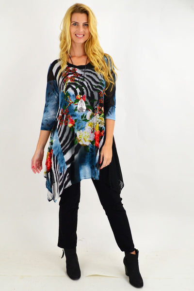 Colourful Trudies Floral Tunic Top