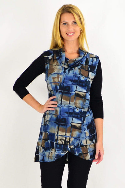 Blue Brick Fold Over Front Tunic Top | I Love Tunics | Tunic Tops | Tunic | Tunic Dresses  | womens clothing online