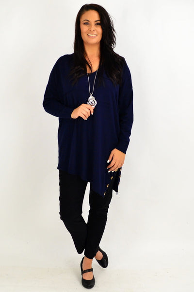 Navy My Go To Knit Tunic Jumper