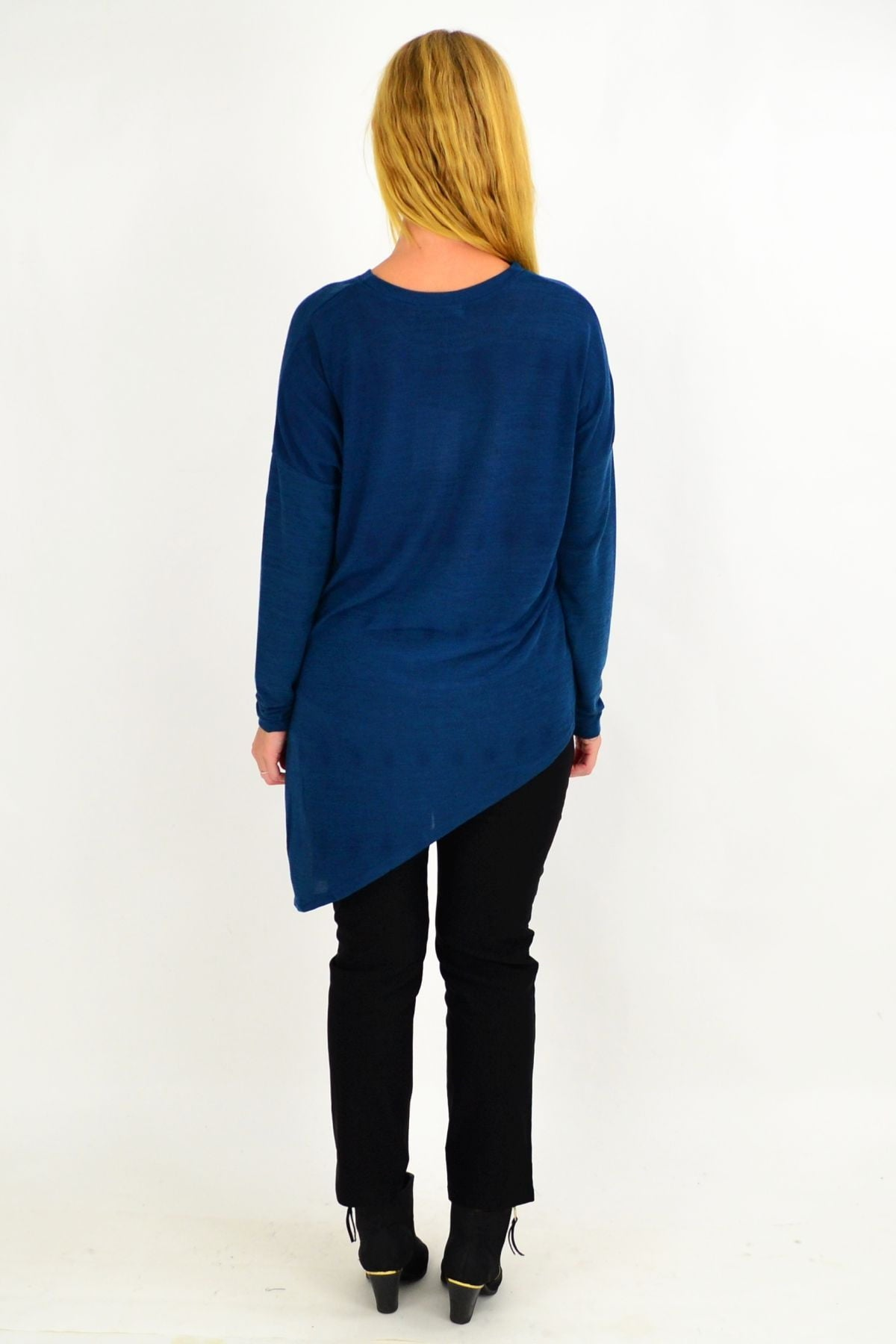 Teal Blue Swiss Spot Knit Tunic Top | I Love Tunics | Tunic Tops | Tunic | Tunic Dresses  | womens clothing online