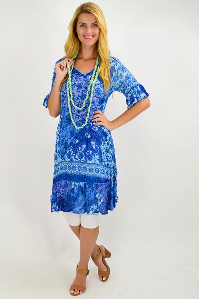 Ocean Blue Tunic Dress