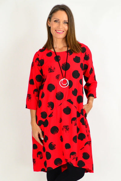 Red Ruby Spot Tunic