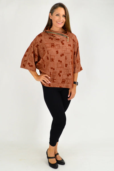 Caramel Eve Relaxed Tunic Cardigan