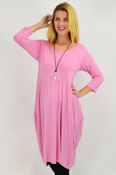 Bubble Gum Pink Sophia Tunic Dress - I Love Tunics