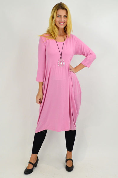 Bubble Gum Pink Sophia Tunic Dress
