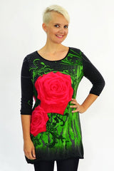 Grey Rose Tunic - at I Love Tunics @ www.ilovetunics.com = Number One! Tunics Destination