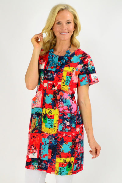 Colourful Sparrow Shift Tunic Dress | I Love Tunics | Tunic Tops | Tunic | Tunic Dresses  | womens clothing online