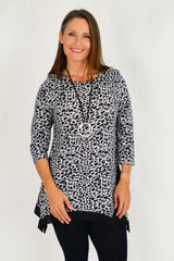 Grey Leopard Print Tunic | I Love Tunics | Tunic Tops | Tunic | Tunic Dresses  | womens clothing online
