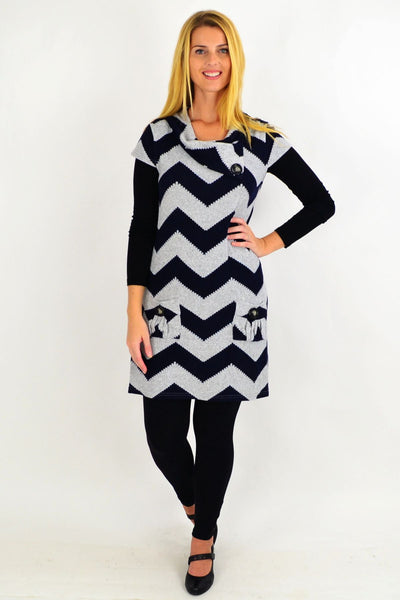 Zig Zag Tunic Top by Caroline Morgan