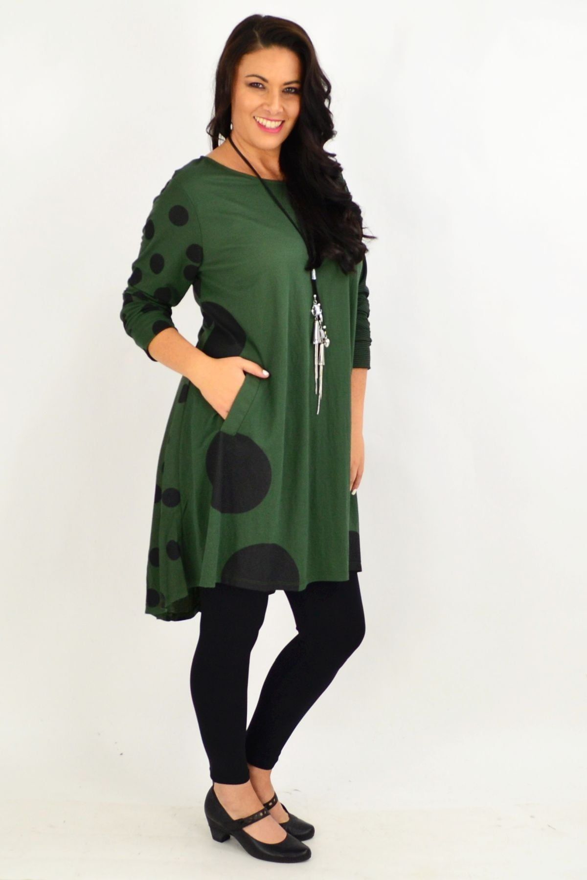 Spot Print Tunic Top by Clarity | I Love Tunics | Tunic Tops | Tunic | Tunic Dresses  | womens clothing online
