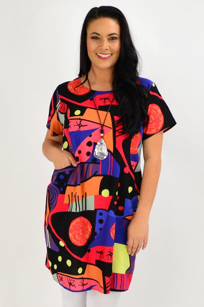 Picasso Shift Tunic Dress