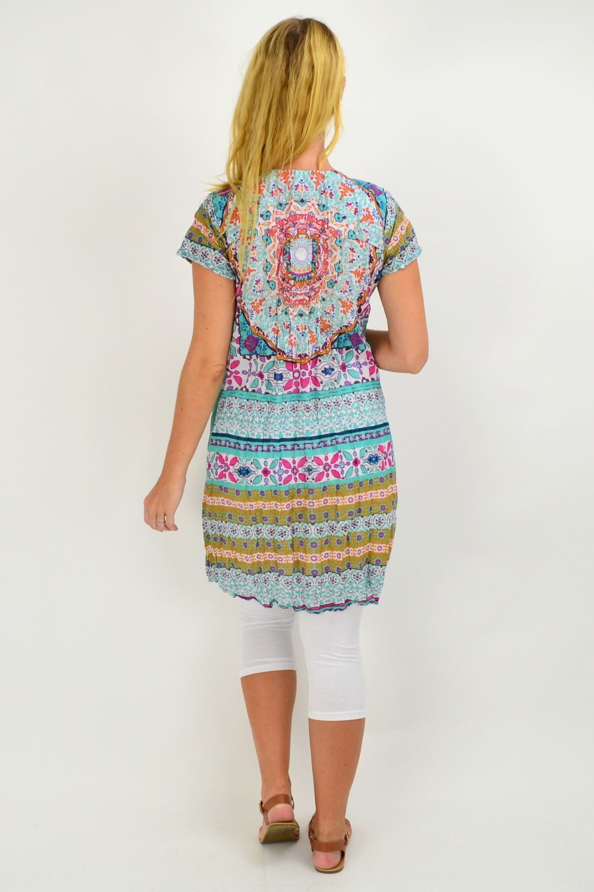 Summer Pattern Cotton Tunic Dress | I Love Tunics | Tunic Tops | Tunic | Tunic Dresses  | womens clothing online