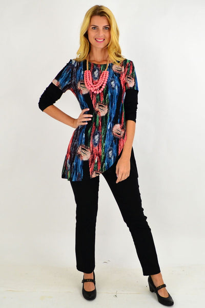 Lilia Asymmetrical Tunic Top