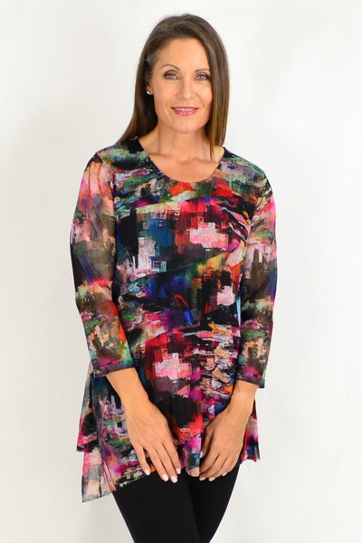 Abstract Art Deco Tunic | I Love Tunics | Tunic Tops | Tunic Dresses | Women's Tops | Plus Size Australia | Mature Fashion