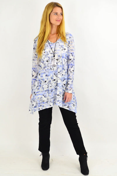 Sky Blue Layla Swing Tunic Top