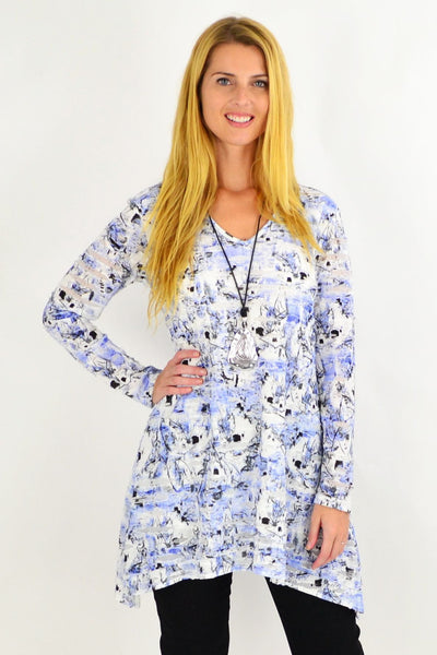 Sky Blue Layla Swing Tunic Top | I Love Tunics | Tunic Tops | Tunic | Tunic Dresses  | womens clothing online