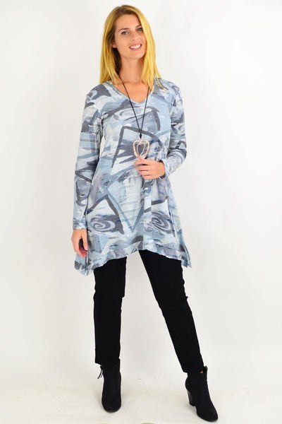Grey Layla Swing Tunic Top