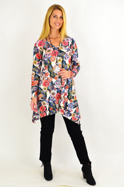 Floral Layla Swing Tunic Top