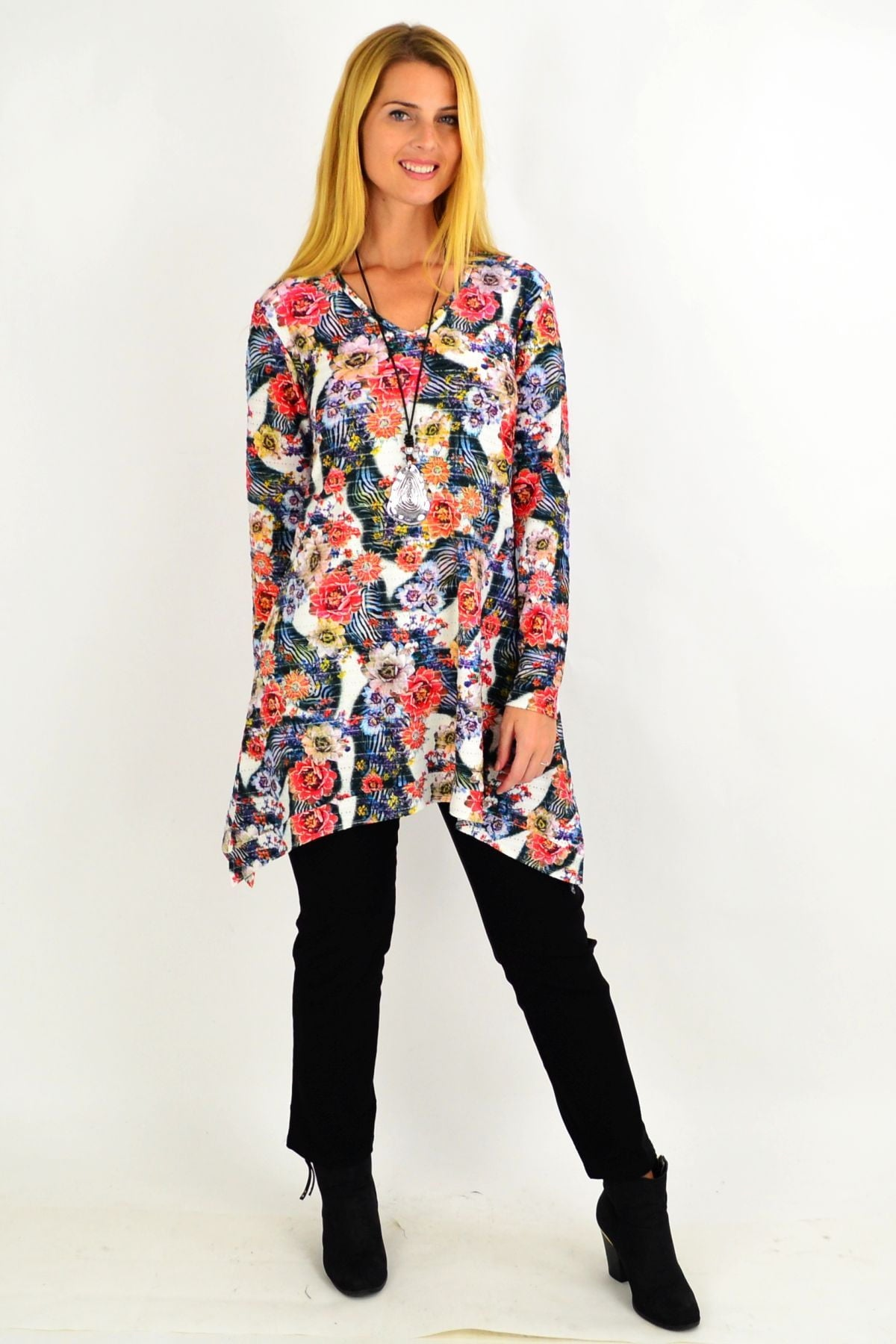 Floral Layla Swing Tunic Top | I Love Tunics | Tunic Tops | Tunic | Tunic Dresses  | womens clothing online