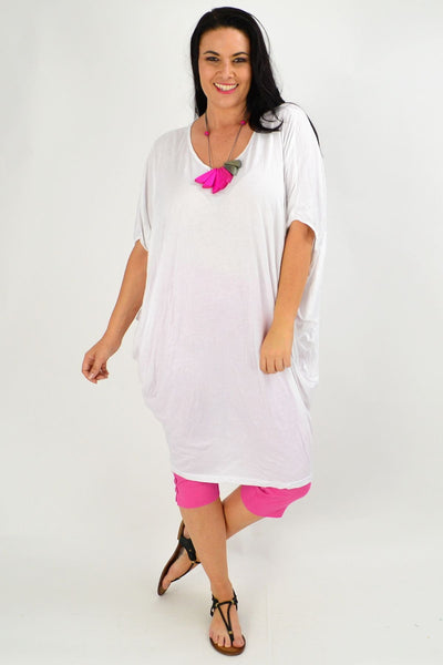 White crinkle Relaxed Tunic | I Love Tunics | Tunic Tops | Tunic | Tunic Dresses  | womens clothing online