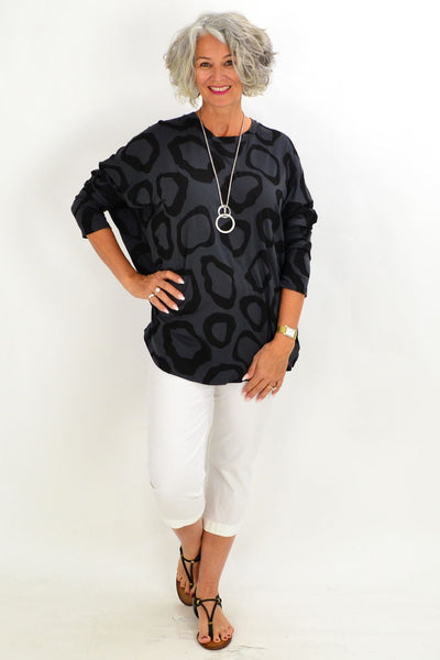 Charcoal Grey Leah Tunic Top