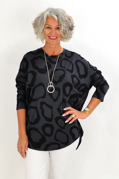 Charcoal Grey Leah Tunic Top | I Love Tunics | Tunic Tops | Tunic Dresses | Women's Tops | Plus Size Australia | Mature Fashion