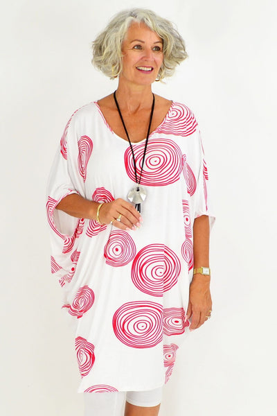 Red Swirl Relaxed Tunic | I Love Tunics | Tunic Tops | Tunic | Tunic Dresses  | womens clothing online