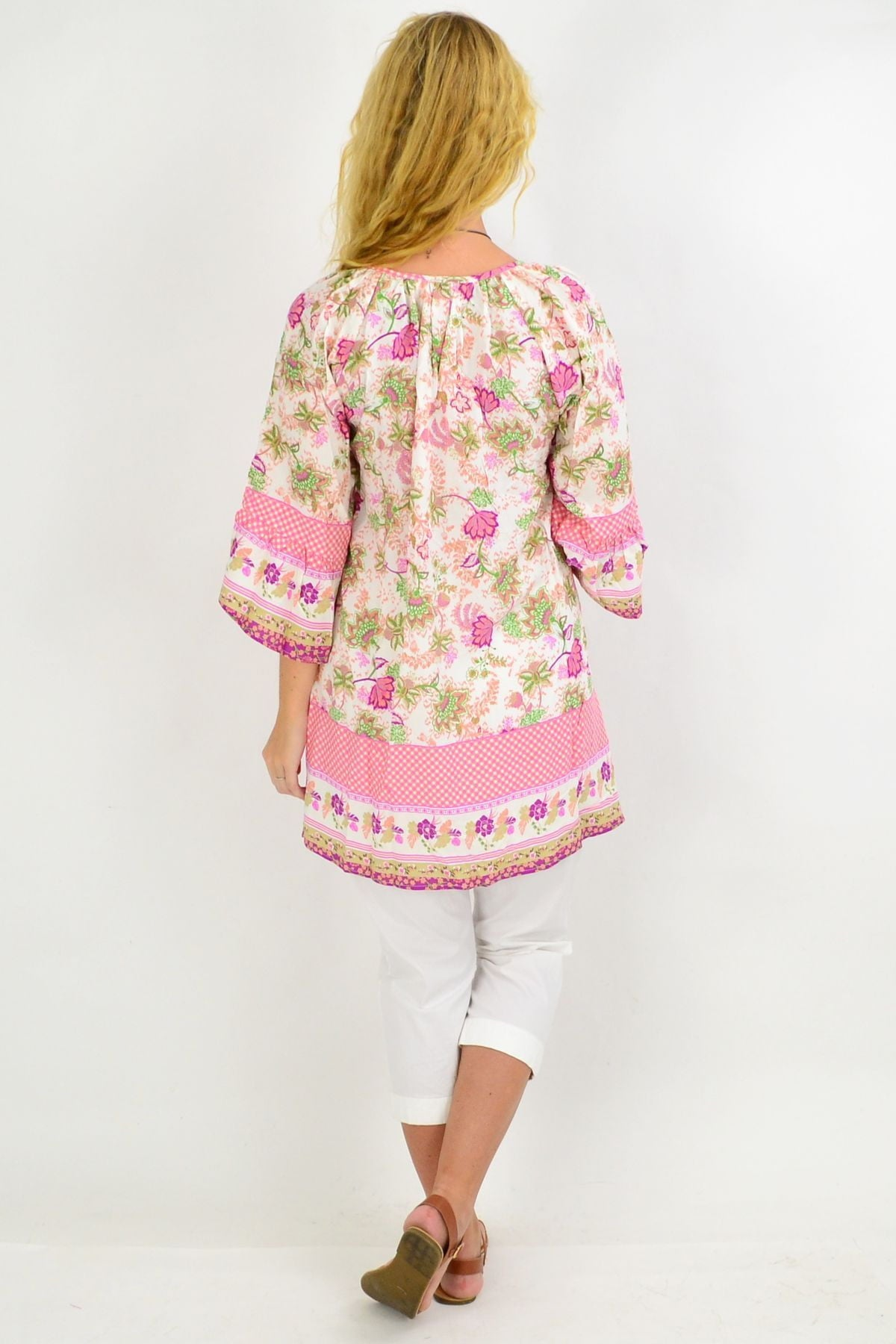 Check Floral Light & Pretty Tunic Top | I Love Tunics | Tunic Tops | Tunic | Tunic Dresses  | womens clothing online