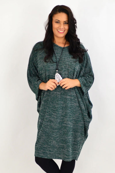 Forest Green Textured Knit Tunic Dress | I Love Tunics | Tunic Tops | Tunic | Tunic Dresses  | womens clothing online