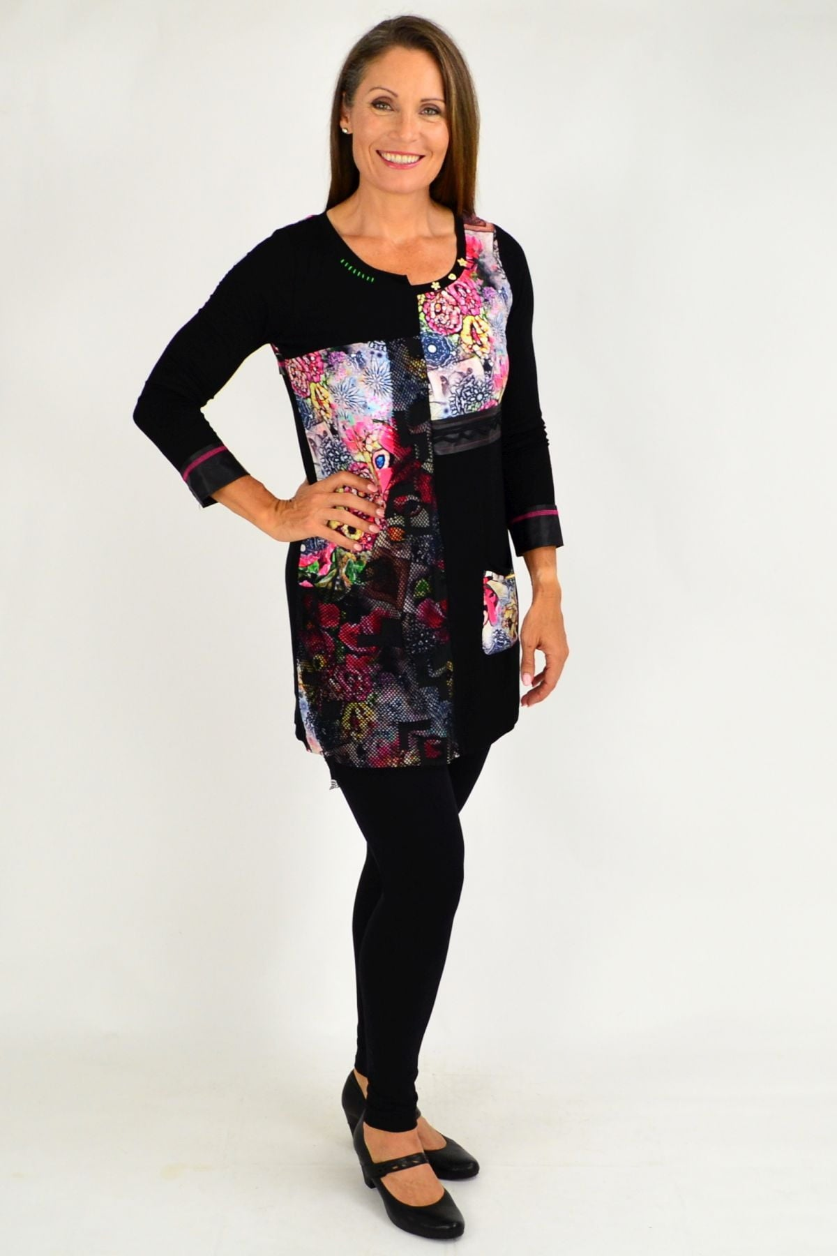 Floral Ellen Tunic Top | I Love Tunics | Tunic Tops | Tunic | Tunic Dresses  | womens clothing online