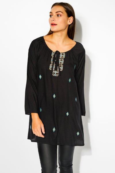 Black Madelyn Tunic Top