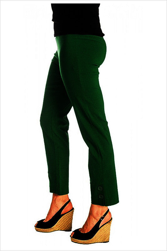 Olive Green 2 Button Clarity Pants - at I Love Tunics @ www.ilovetunics.com = Number One! Tunics Destination