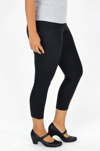 Leather Look Black Legging - at I Love Tunics @ www.ilovetunics.com = Number One! Tunics Destination