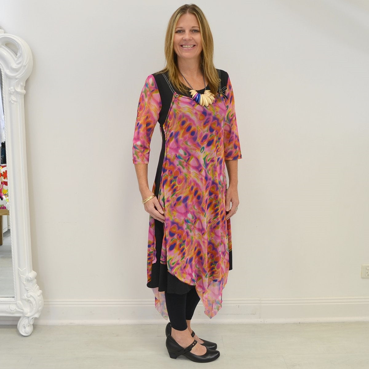 Pink Abstract Long Tunic | I Love Tunics | Tunic Tops | Tunic | Tunic Dresses  | womens clothing online
